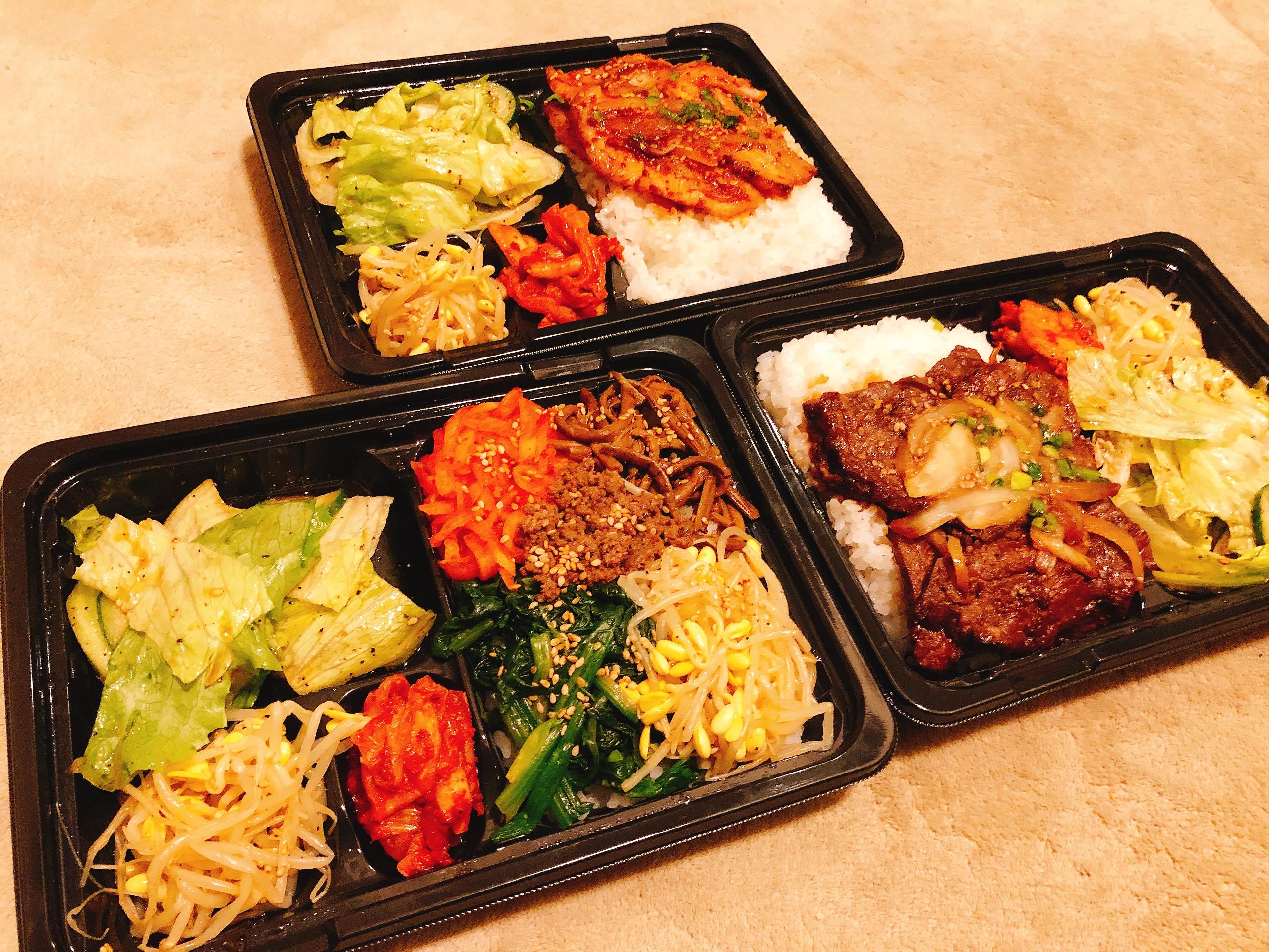 元山食堂の韓国料理をテイクアウト